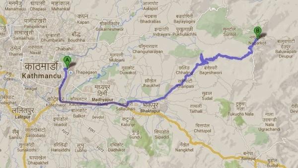 Kathmandu to Nagarkot