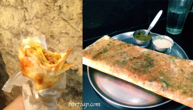 Kati-Roll-and-Masala-Dosa