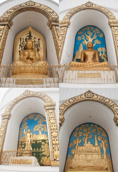 empat-patung-buddha-di-peace-pagoda